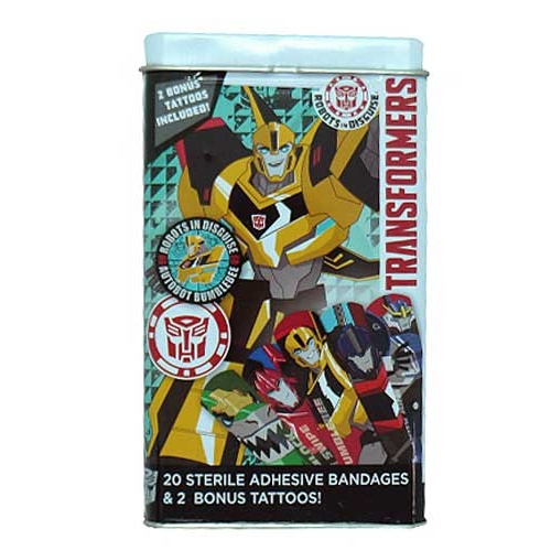 TRANSFORMER BANDAGES AND TEMPORARY TATTOOS