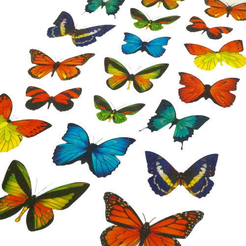 ASSORTED COLORFUL BUTTERFLY STICKERS
