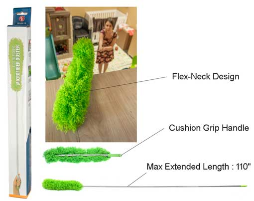 "110"" TELESCOPING MICROFIBER DUSTER"