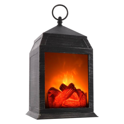 IZOOM® LANTERN WITH FIREPLACE-STYLE FLAME