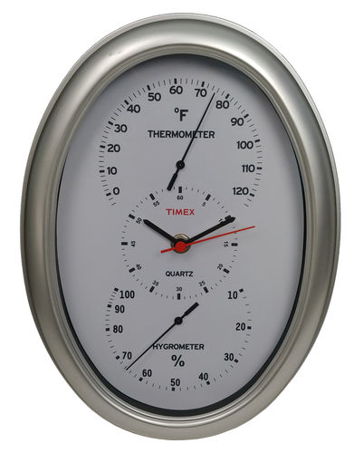 TIMEX®TEMPERATURE AND HUMIDITY CLOCK