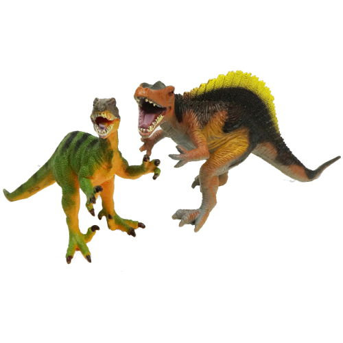 BATTLING SPINOSAURUS AND VELOCIRAPTOR FIGURES