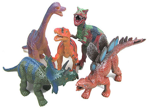 5-PACK ASSORTED IRIDESCENT DINOSAURS