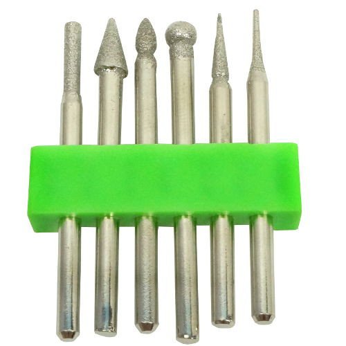 6 ASSORTED DIAMOND-COATED CARBON-STEEL BITS