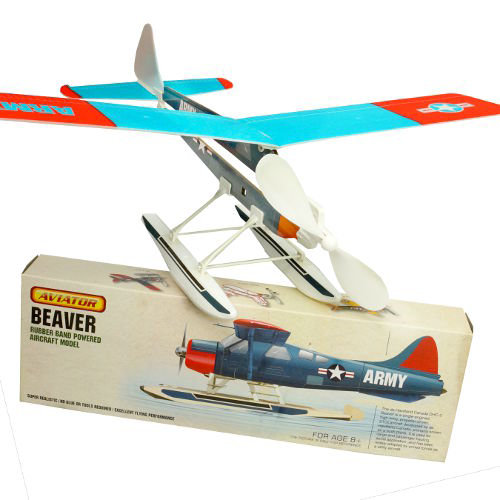 DETAILED RUBBER-BAND AIRPLANE