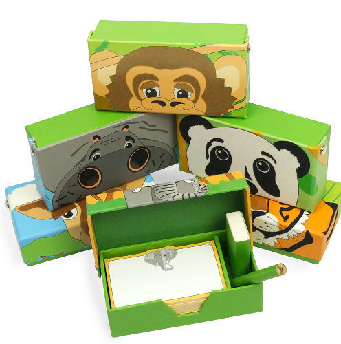 150-PAGE SAFARI-THEME NOTE BOXES