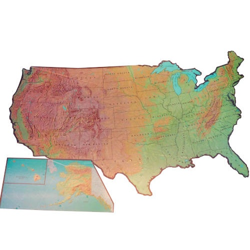 VINYL SELF-ADHESIVE U.S. MAP