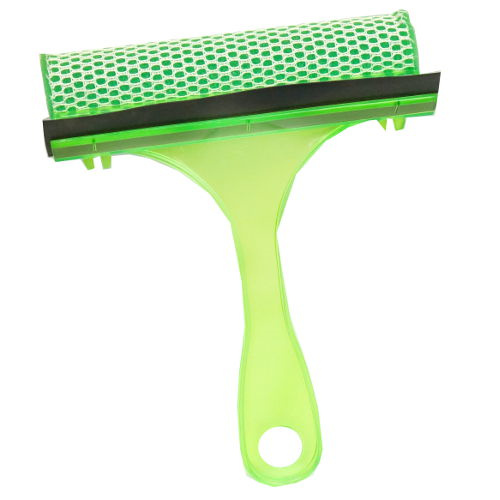 HANDLED SQUEEGEE AND SCRUB PAD