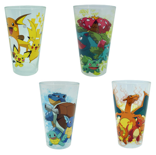 SET OF 4 POKEMON PINT GLASSES