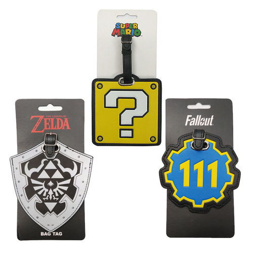 VIDEO GAME LUGGAGE TAGS
