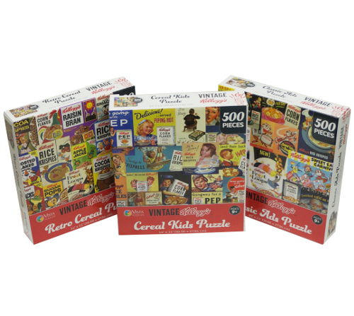 KELLOGG'S™ VINTAGE CEREAL BOXES PUZZLES