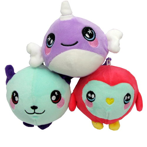 PLUSHY TOYS WITH KEY RINGS