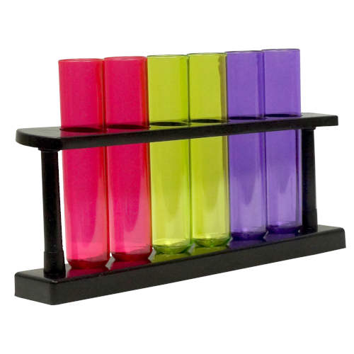 COLORFUL TEST TUBES WITH RACK