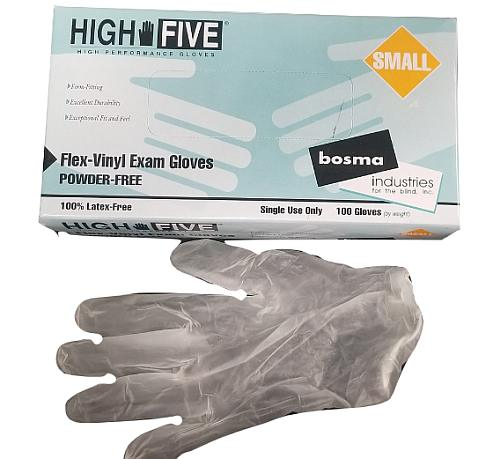 100 SIZE SMALL LATEX-FREE EXAM GLOVES