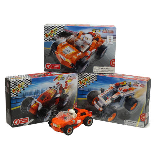PULL BACK SNAP-TOGETHER RACE CAR KITS