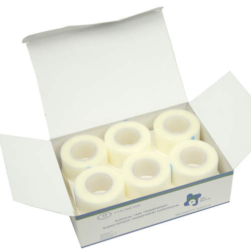 TRANSPARENT SURGICAL TAPE 30' ROLLS BOX OF 12