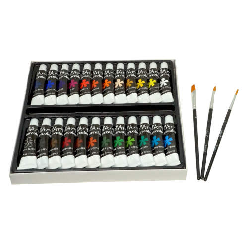 WATERCOLOR PAINTING SET WITH BRUSHES