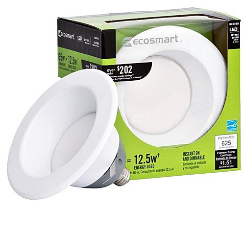 "6"" ECOSMART 65 WATT EQUIVALENT LED DOWNLIGHT"