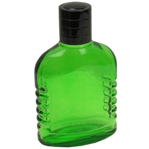 3.5 OZ GREEN GLASS BOTTLE