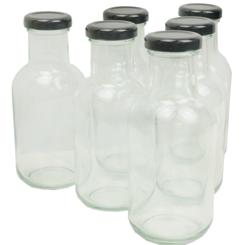 10 OZ CLEAR GLASS BOTTLES