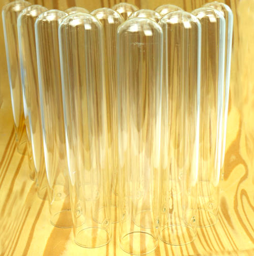 """BOX OF (12) 6"""" x 1"""" TEST TUBES WITH HOLES NEAR TOP"""