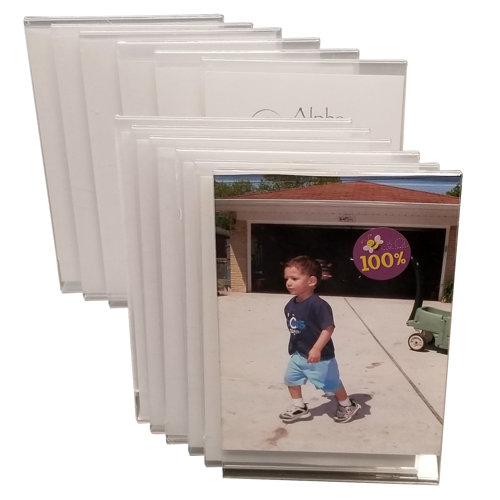 """12-PACK CLEAR ACRYLIC PLASTIC 4"""" X 6"""" PICTURE FRAMES"""