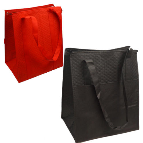 INSULATED TOTE WITH LONG HANDLES