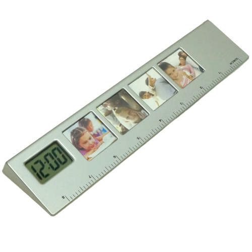 RULER WITH CLOCK AND PICTURE FRAMES