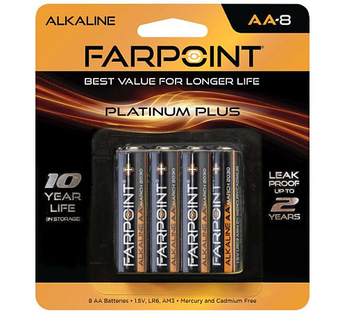 FARPOINT AA BATTERIES 8-PACK