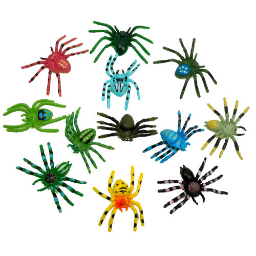 ASSORTED COLORFUL SPIDER TOYS