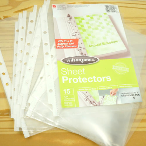 """8-1/2"""" X 5-1/2"""" HOLE-PUNCHED SHEET PROTECTORS"""