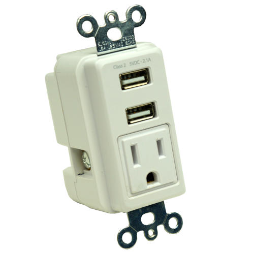 GE HARDWIRED USB WALL OUTLET
