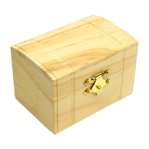 """3-1/2"""" UNFINISHED PINE TREASURE CHEST"""