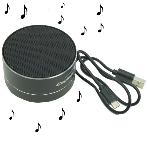 RECHARGEABLE PUCK-SHAPED BLUETOOTH SPEAKER