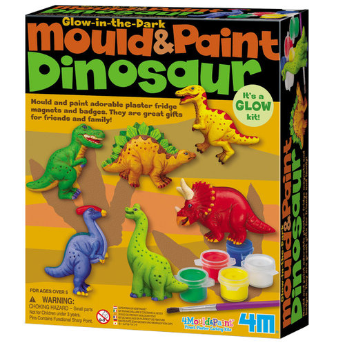 DINOSAUR MAGNET MOULD AND PAINT KIT