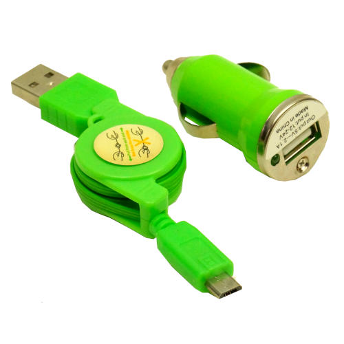 AUTOMOBILE HIGH-SPEED DEVICE CHARGER GREEN