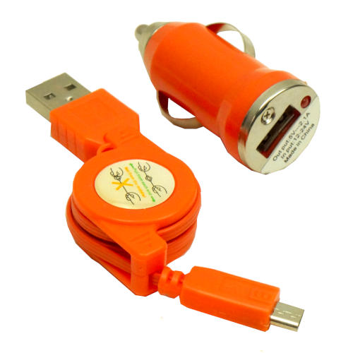 AUTOMOBILE HIGH-SPEED DEVICE CHARGER ORANGE