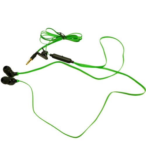 EARS BUDS WITH GREEN CORDS