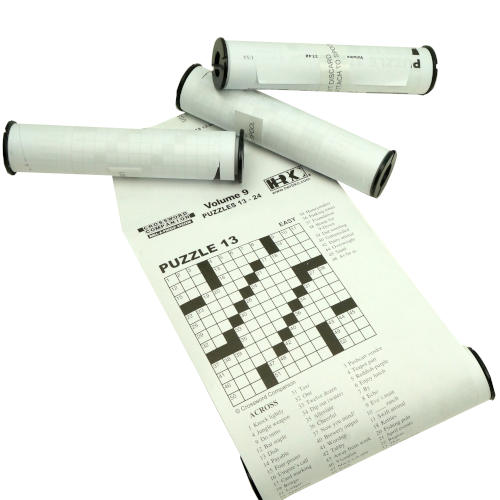 BOX OF 4 ROLL-A-PUZZLE CROSSWORD REFILL SCROLLS