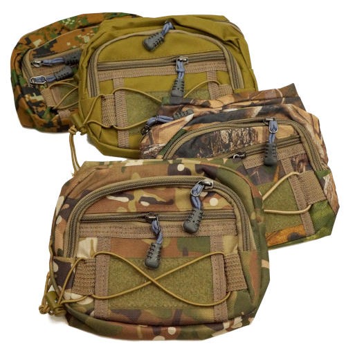 CAMOUFLAGE ZIPPERED WAIST PACK