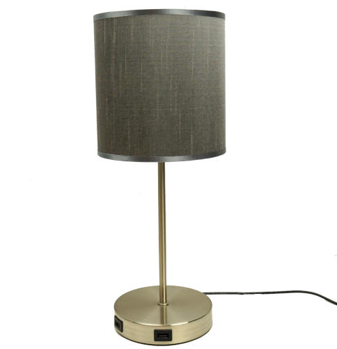 TABLE LAMP WITH 2-USB CHARGING PORTS