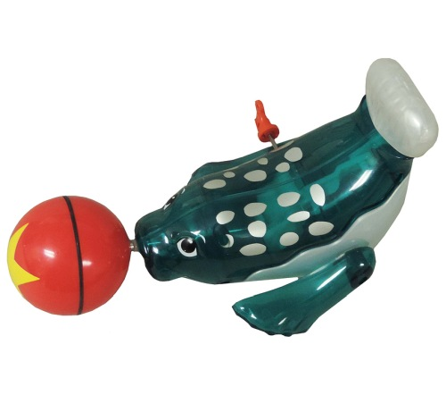 SPINNING SEAL WIND-UP TOY