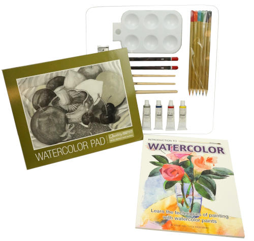INTRO TO WATERCOLOR PAINTING SET