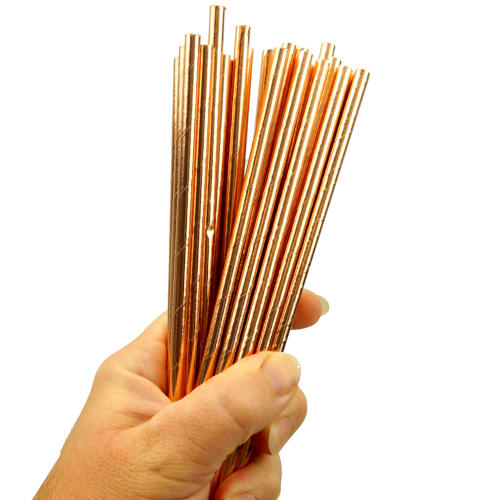 24-PACK ROSE GOLD DRINKING STRAWS