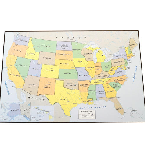 PEEL AND STICK DRY ERASE USA MAP