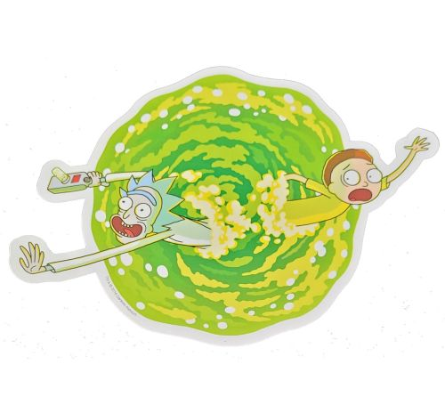 """4-1/4"""" DIAMETER RICK AND MORTY CAR MAGNETS"""