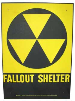 GENUINE COLLECTIBLE FALLOUT SHELTER SIGN