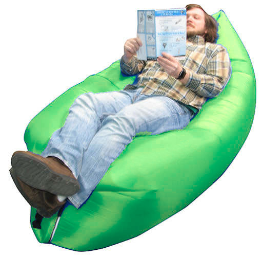 RED INFLATABLE LOUNGER AIR SOFA