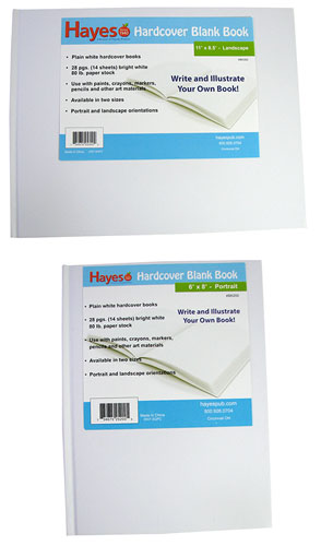 SMALL BLANK HARDCOVER BOOK