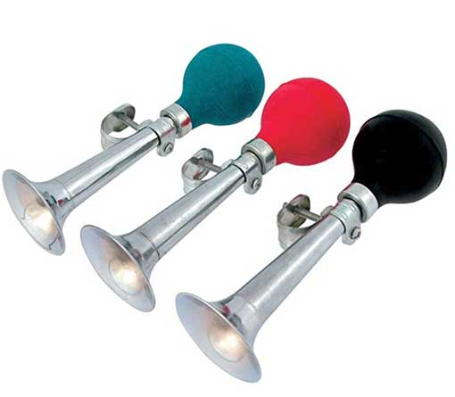 BELL, BIKE, THUMB ACTIVATED, REVOLVING BELL
